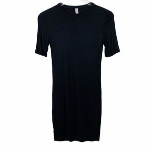 AMERICAN APPAREL | Ribbed Crew Neck T-shirt Dress